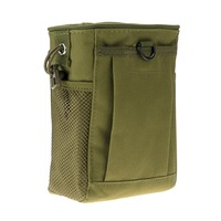 S Size Outdoor All-Purpose Nylon Waterproof Molle Military Recycle Collection Pouch Carrying Bag with Drawstring - Green COLOR