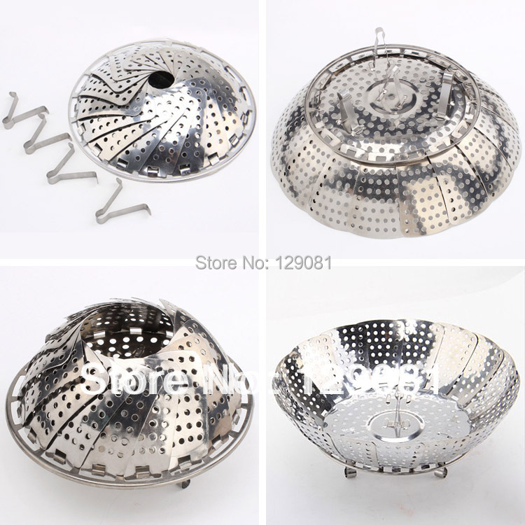 Magic Steamer Stainless Steel Multifunctional Steamer Retractable Folding Steaming Plate Fruit Plate Contraction Steaming Plate