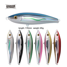 Kingdom 1pc 17cm/85g Giant Sea Fishing Lures Topwater Floating Pencil Laborious Baits Appropriate for bigger fish on boat mannequin 6507
