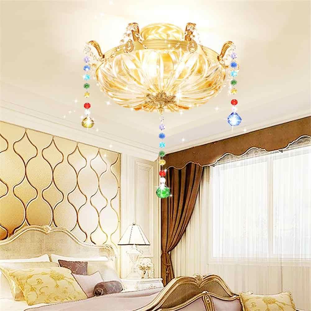 Хрустальное освещение цвет Хрустальная подвеска-шар цвет Восьмиугольные бусины для люстры Висячие капли/наружное украшение рождественской елки