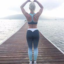 2 Colors Leggings Gradual Change Legging Women Leggings Women Elastic Leggins Fitness Workout Clothes For Women S-XL