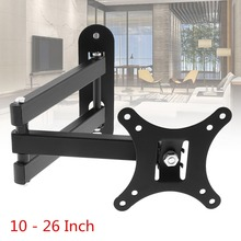 10KG Adjustable TV Wall Mount Bracket Flat Panel TV Frame Support 10 Degrees Tilt with Small Wrench for LCD LED Monitor Flat Pan