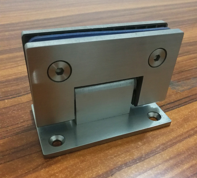 90 Degree Open SUS304 Stainless Steel Hinges Wall installation Glass ...