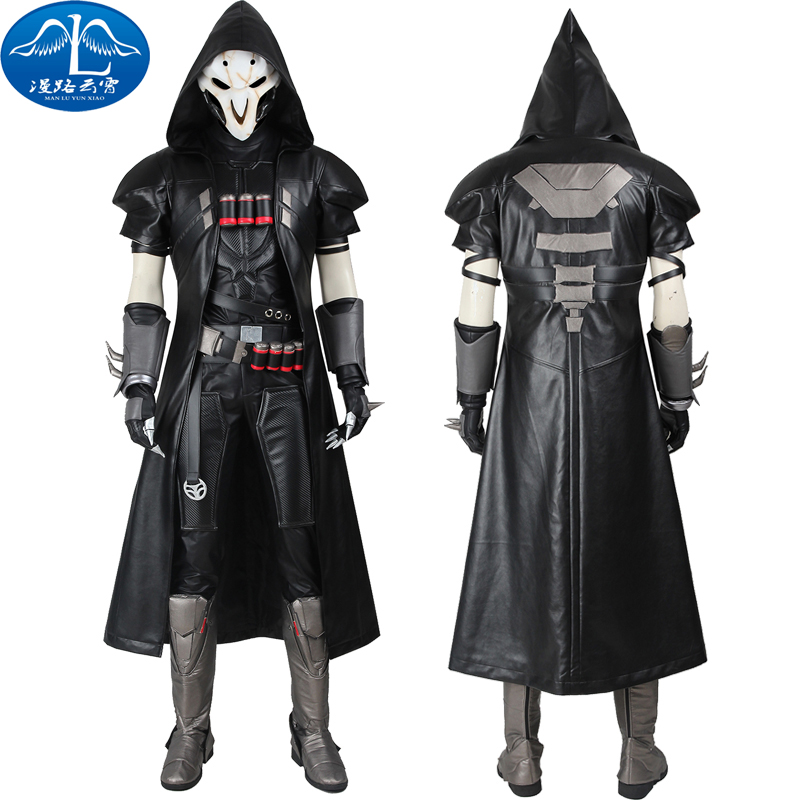 HOT Games Reaper Cosplay Costume COS Gabriel DE Reyes Full Set Any Size Handmade For Halloween
