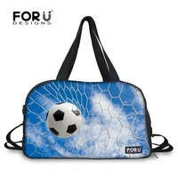 FORUDESIGNS Luxury Brand Ball Printing Luggage Bags,Large Travel Bag For Men Teenager,New Popular Blue Male Duffle Bag Shoe Bag