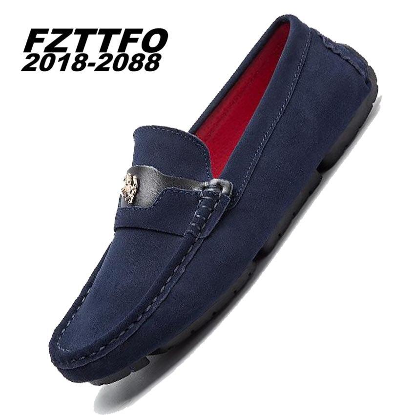 Los hombres Zapatos de Conducción de Cuero de Gamuza Genuina, FZTTFO 2018-2088 H