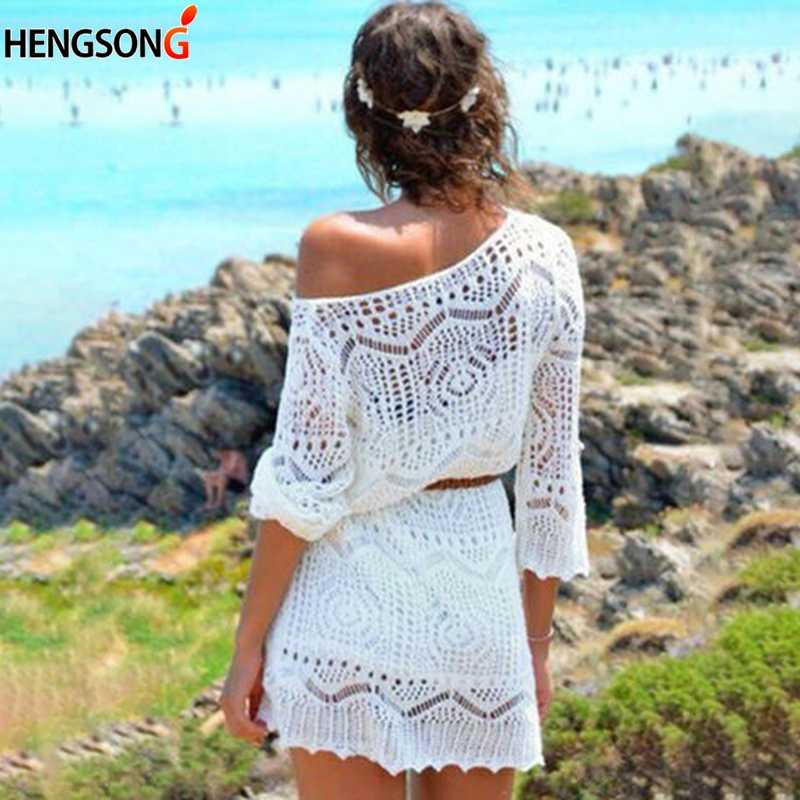Floral Aushöhlen Bikini Cover Up Frauen 2018 Pareo Strand Cover Up Bademode Frauen Robe De Plage Strand Strickjacke Bade anzug