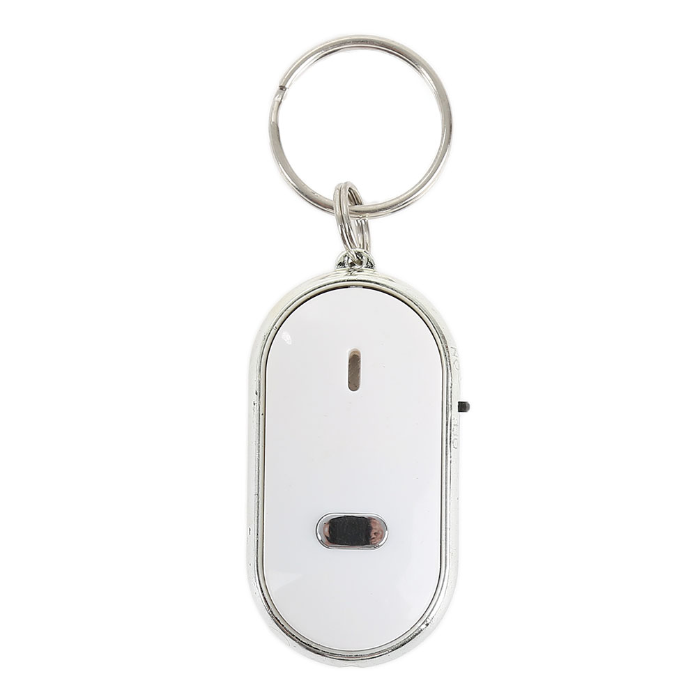 US $0 99 50% OFF|1Pc High Quality Black/Blue/ White LED Key Finder Locator  Find Lost Car Keys Chain Keychain Whistle Sound Control Car Styling-in Key