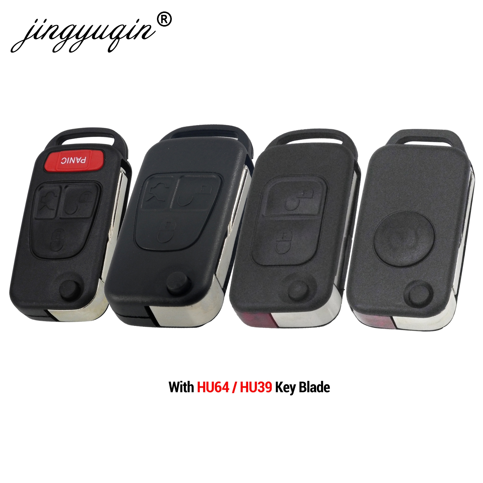 jingyuqin Flip Folding Remote <font><b>Key</b></font> shell 1/2/3/4 Button for <font><b>Mercedes</b></font> Benz SLK E113 A C E S W168 W124 W202 <font><b>W203</b></font> Auto Car <font><b>Key</b></font> Case image