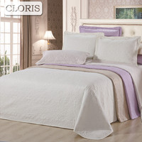 CLORIS Hot Sale Bed Cover Bedding Set Blanket On The Bed Quilted Bedspread Coverlet 230x250cm 3PCS Pillowcase Quilt Wedding Gift
