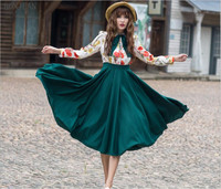 Vestidos De Fiesta Sale Dress Free Shipping Large Size Ladies Woman Europe 2017 Vintage New Sweet Long Sleeved Dress Lapel