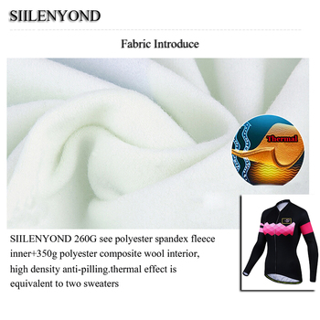 Siilenyond 2019 Pro Women Winter Thermal Cycling Jersey Long Sleeve Mountain Bike Cycling Clothing MTB Bicycle Cycling Clothes 3