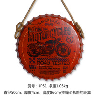 motorcycle 3D effect tin sign Wall Hangings Vintage Metal Painting Beer Cap Bar Cafe Decoration Poster Mural Craft 50X50 CM