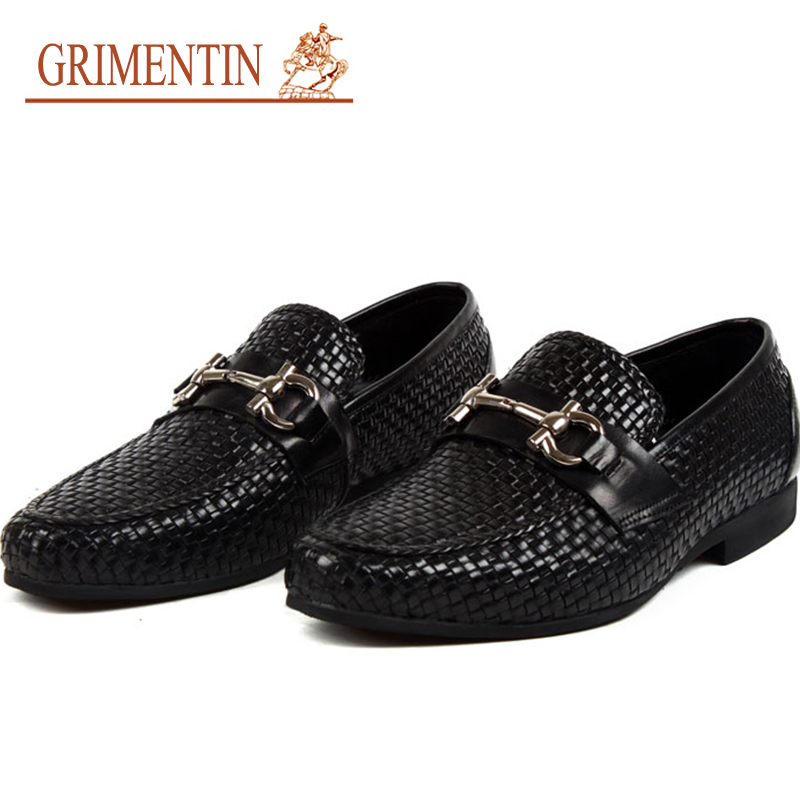 Aliexpress.com  Buy Men Loafers Leather Genuine Luxury Designer Slip On Mens Loafer Shoes Black ...