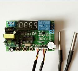 Ac 220 Высокоточный цифровой дисплей умный температурный дифференциальный контроллер контроль температуры