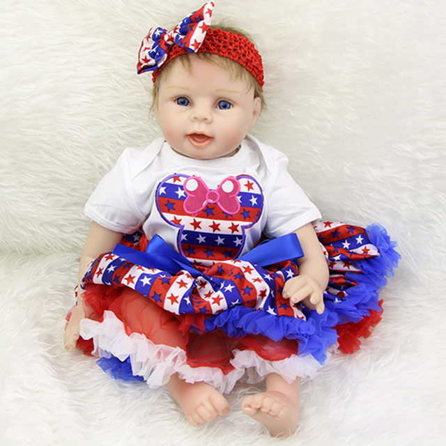 Hidup Seperti Boneka Bayi untuk Anak Perempuan 22 Inch Bayi Baru Lahir  Boneka Yang Terlihat Nyata 25128b8e7e