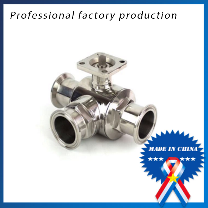 3/4 inch Sanitary Stainless Steel High Platform 3 Way Ball Valve Quick Connect Quick with Bracket 1 1 4 dn32 female stainless steel ball valve 3 way 316 screwed thread manual ball valve handle t port gas oil liquid valve