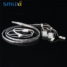 Smuxi 60CM 2PCS 18 LED Strip Light RGB 5050 smd USB Battery Power Dream Color Changing LED Strip Shoes Light