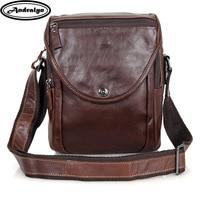 Andralyn Men's Shoulder Bag Satchel Genuine Leather Messenger Bags Cross Body Bags for Men Male Vintage Travelling Bag