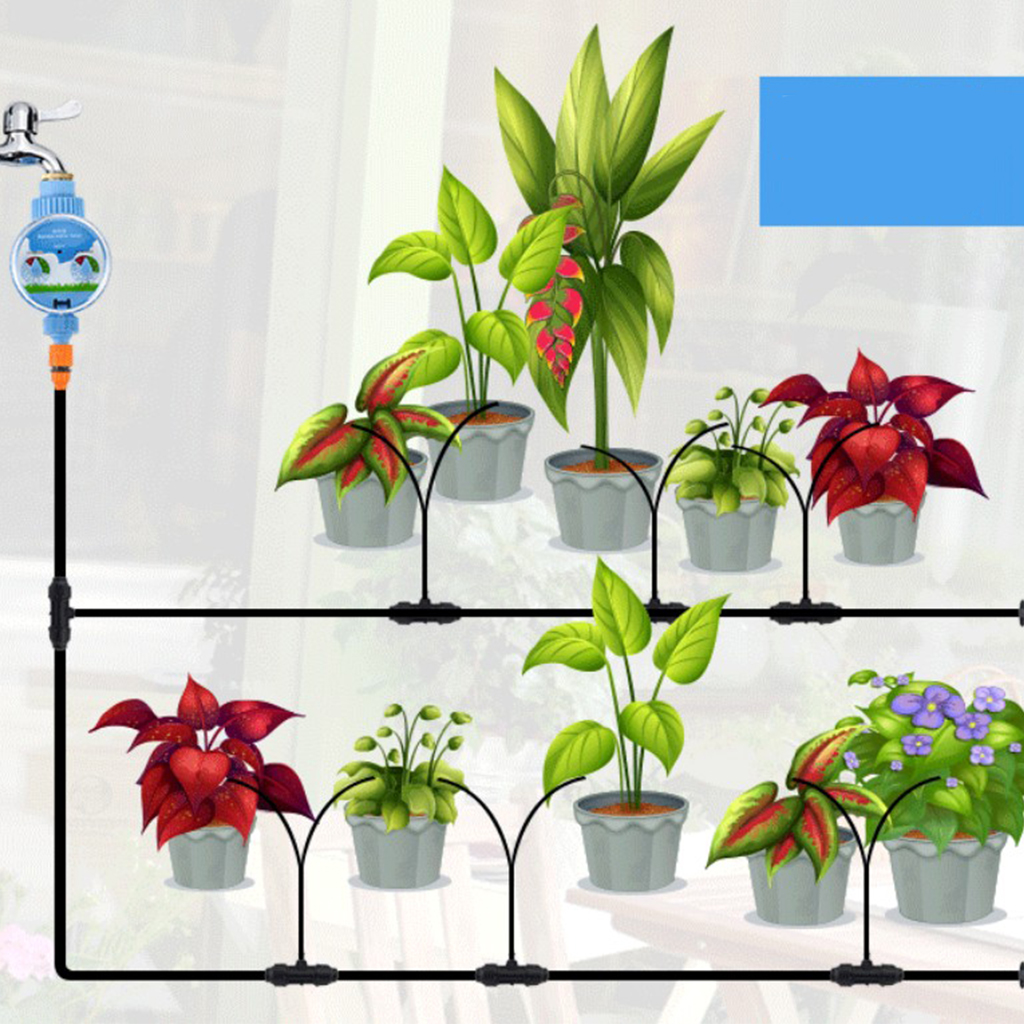 LCD Automatische Garten Bewässerung Timer Bewässerung Streuen Controller Taste Typ