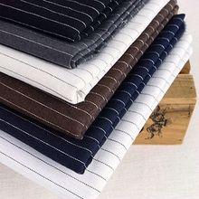 Xintianji woven pure linen fabric for man shirts suit home textile fine stripe and women shirt dress 90*135cm/piece W300033