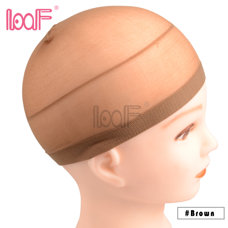 Hairnets 2 Pcs Deluxe Stocking Wig Cap Stretchable Elastic Hair Net Polyester Adjustable Size Mesh For Wearing Wigs Weaving Caps