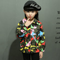 Autumn new baby boys and girls the bright camouflage jacket small coat children clothes