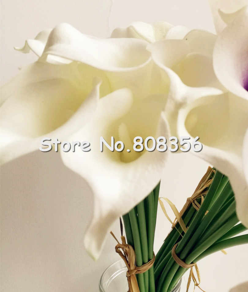 buy 30pcs callas artificial calla lily blue heart purple heart calla lilies flower for wedding bridal bouquet decorative flowers from