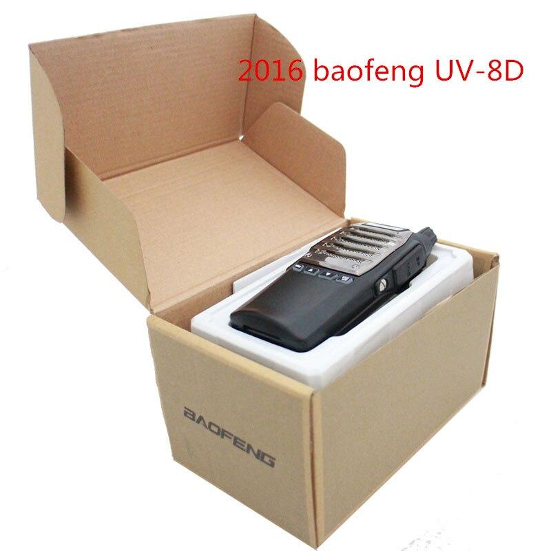 bilder für 2016 Baofeng UV-8D UV8D Walkie Talkie UHF 400-480 MHz 5 Watt 99CH Handliche Jagd Radio Receiver Mit Headfone