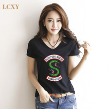 LCXY Casual fashion slim women's t-shirt Trendy Riverdale Summer women T Shirt Hipster Like Breathable Comfortable T-shirt(China)