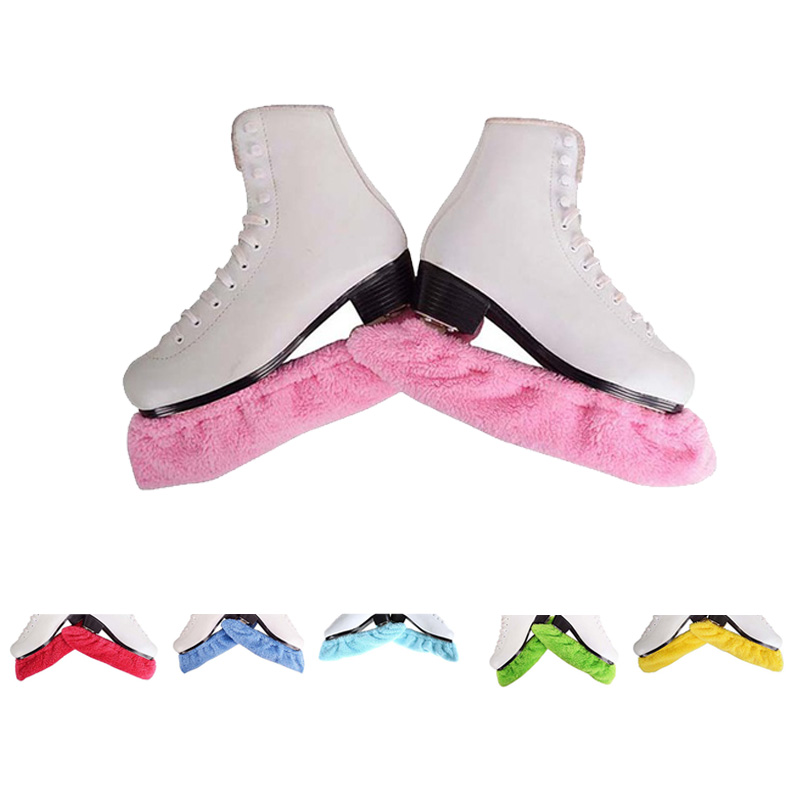 1 Pair Figure Skates Frame Protective Cover Velvet Soft Ice Knife Blade Cover Hockey Skates Water Absorption Antirust Guard