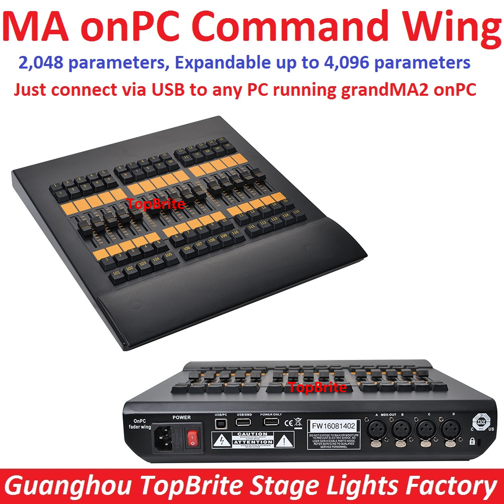 2017 Professional DMX 2048 Controller MA onPC Fader Wing Extend to 4096 Parameters GrandMa2 Software Stage Lighting DMX Consoles