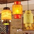 Klassische schaffell laternen Chinesischen retro flur restaurant halle Kronleuchter