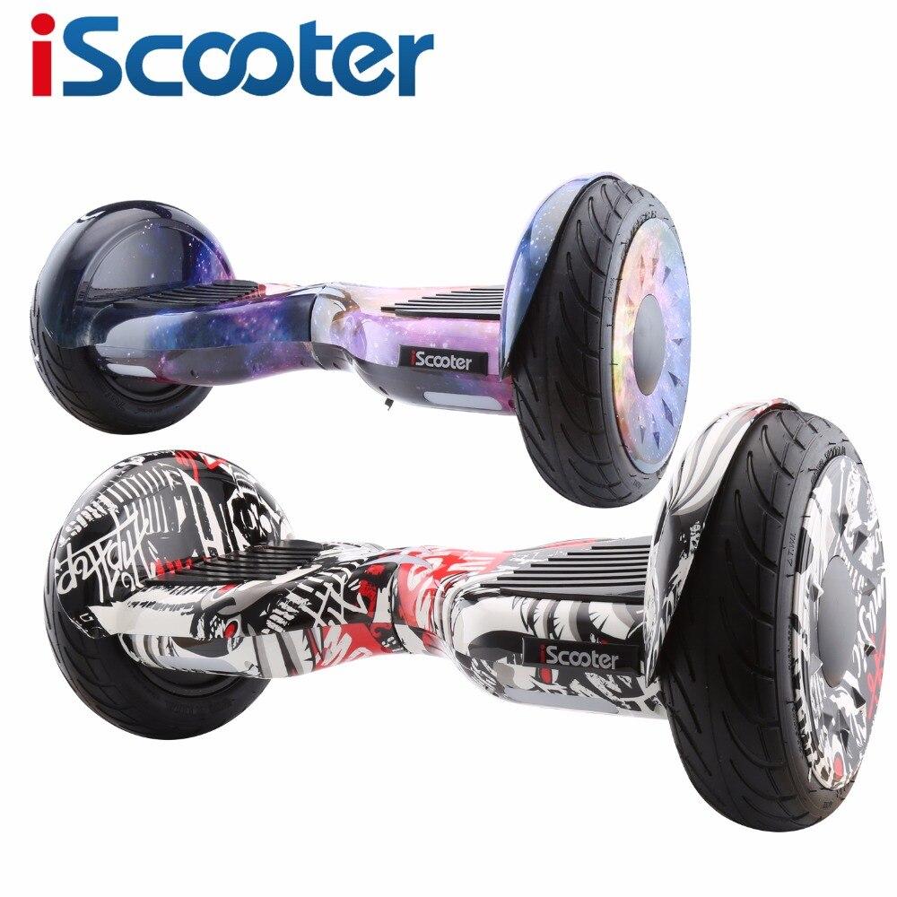 IScooter hoverboard 10 pouces/6.5 pouces Scooter électrique intelligent Balance Scooter tableau électrique Giroskuter Gyroscooter UL2272 à distance