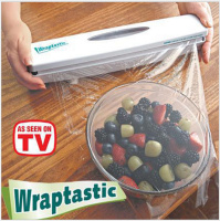 Wraptastic Dispenser Plastic Wrap Preservative Film Cutter Cutting Foil Or Cling Wrap Kitchen Accessories