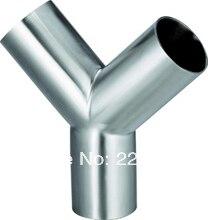 Новое поступление из нержавеющей стали SS304 сварки OD 102 мм санитарно 3 разъемы Y газа место