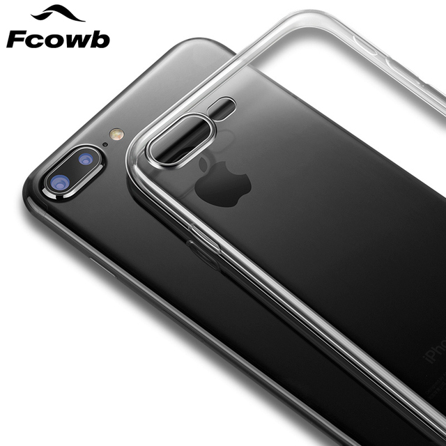 reputable site b947c 1fc77 FCOWB For Apple iPhone 8 Plus Case Apple iPhone 7 Plus Silicon Case Safety  Transparent Clear Soft TPU Protector Back Cover Case-in Fitted Cases from  ...