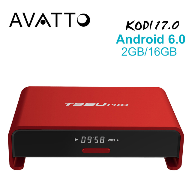 [Auténtica] T95U Pro 2 GB/16 GB Amlogic S912 OCTA Core Android 6.0 Smart TV Box 4 K H.265, 5G-Wifi Kodi 17.0 a Plena Carga, Set Top Box
