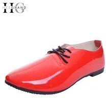 HEE GRAND туфли-оксфорды женские повседневные лоферы на шнуровке плоская подошва модная обувь с перфорацией типа «броги» женская обувь из запатентованного кожзаменителя размеры 35–42 XWD4049