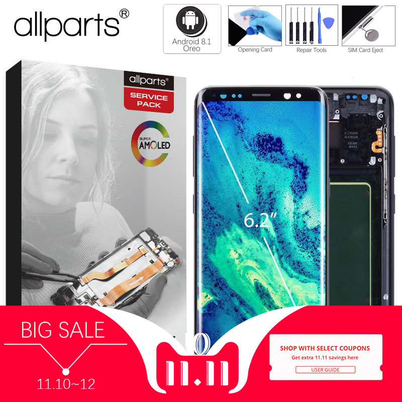 ORIGINE AMOLED pour SAMSUNG S8 LCD Affichage Écran Tactile Digitizer Remplacement pour SAMSUNG GALAXY S8 Plus LCD SAMSUNG S8 LCD