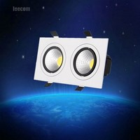 High Brightness Double Head Square Led Downlight 6w 10w 14w 20w 24w 30w 40w Led Cob Recessed Ceiling Down Light Lamp For Home|LED Downlights| |  -