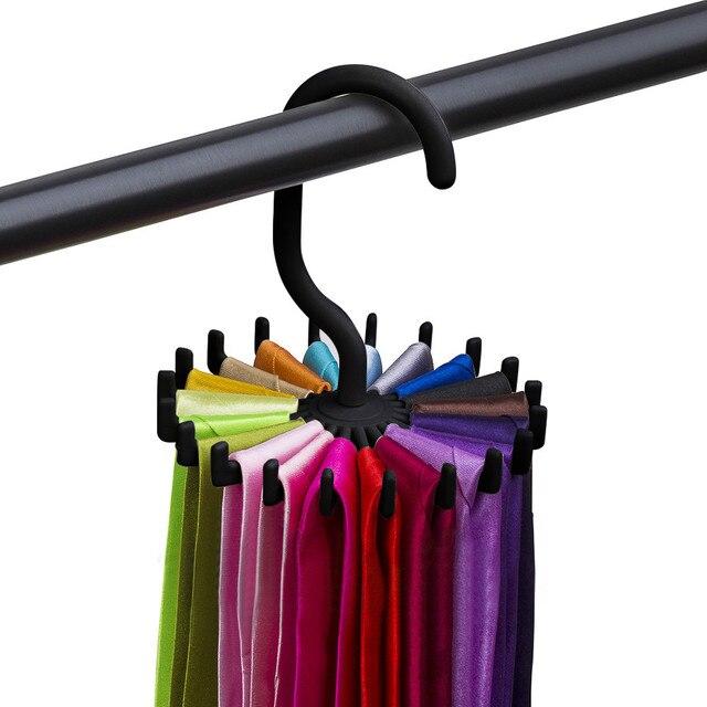 Colgador 2019, estantería giratoria para corbatas, colgador de corbata ajustable, soporte para 20 corbatas de cuello, organizador para hombres