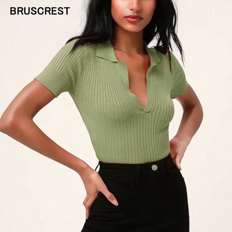 Летняя женская рубашка-поло, женские шорты с коротким рукавом, белые однотонные шорты-поло, уличная одежда