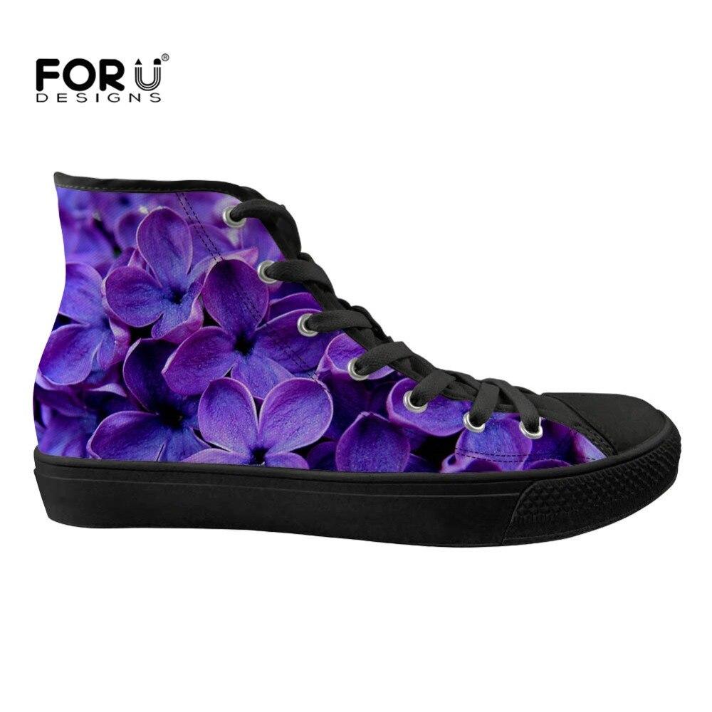 Zapatillas de deporte para mujer con estampado en 3D Lila púrpura para mujer-in Zapatos vulcanizados de mujer from zapatos    1