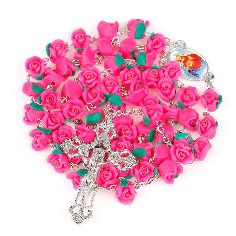 Aliexpress Buy Ningxiang Handmade Our Lady Rosary Red Pink