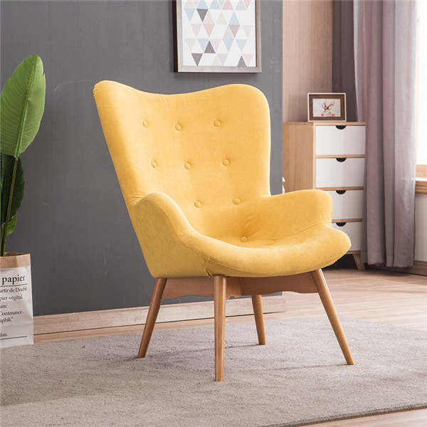 US $269.1 10% OFF|Mid Century Modern Relaxed Armchair Contour Chair Living  Room Furniture Muted Fabric Arm Chair Fabric Upholstery Accent Chair-in ...