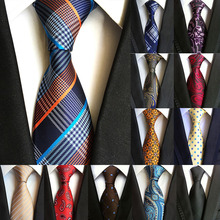 ae41a3ffcfde Fashion Classic Men's Tie Plaid Striped Jacquard Silk Necktie Business  Formal Wedding Party 8cm 1200 Needles