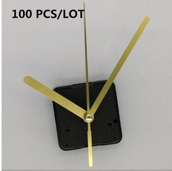 100sets Clock Mechanism 18mm shaft DIY Kit For Clock Parts Wall Clock Quartz Hand repair Quartz Clock Movement Home Decoration