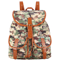 New Arrival Camouflage Colorful Flower Printing Jacquard Cloth Backpack Women Bag Mochila Escolar Feminina Bagpack Rucksack