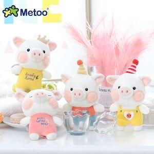 Lalka metoo nadziewane zabawki pluszowe zwierzęta lalka mały konik zabawka świnka dzieci zabawki dla dzieci dziewczyny chłopcy Kawaii Mini brelok do kluczy z ozdobą